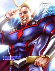 Young All Might by aerlixir