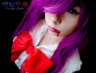Tokyo Ghoul - Rize Kamishiro attempt by CristinaChii