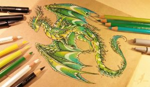 Summer forest dragon by AlviaAlcedo