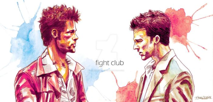 Fight Club Watercolor by theonlybriman47