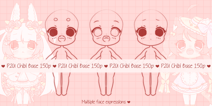 { P2U } Chibi Baby Base by Valyriana
