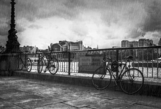 Bicycles on South Bank by PeteNoir