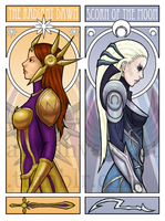 Leona and Diana by iMMuhUnic0rn