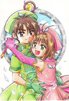 Sakura and Shaoran version two by lince