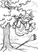 Halloween Coloring Page by gypsygirlpress