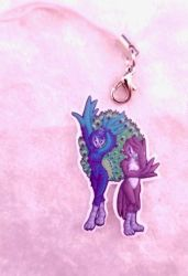 Peacocks Acrylic Charm by ami-nomiko