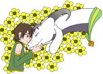 Chara And Asriel by AbyssinalPhantom