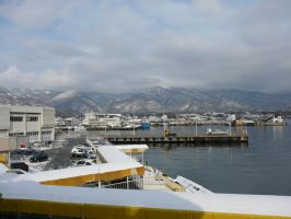 Mountain Seaport by katters