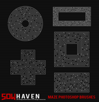 Maze Photoshop Brushes by sdwhaven