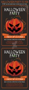 Halloween Party Psd Flyer by Hotpindesigns