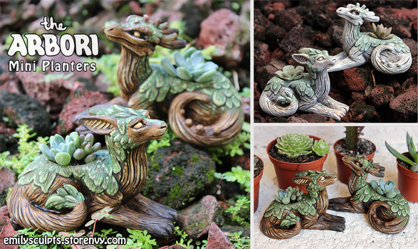 The Arbori : Mini Planters by emilySculpts