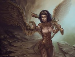 Steampunk angel by schastlivaya-ch