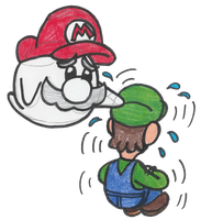 Poor Luigi never catches a break, huh? by DrQuack64