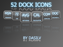 52 Gloss dock Icons by dasilv