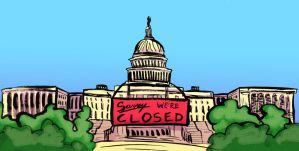 Government Shutdown - Editorial Illustration by ungoth