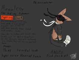 Me As A Pokemon: Meaulcoy by zencat61