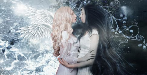 Darkness and Light Lovers by PlacidAnemia