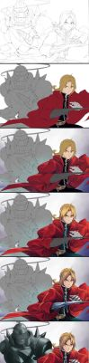 Process - FMA Brothers by Jennaris
