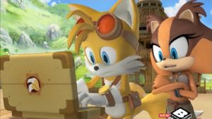 Tails and Sticks by SonicBoomFan101