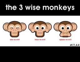 the 3 wise monkeys by shane613