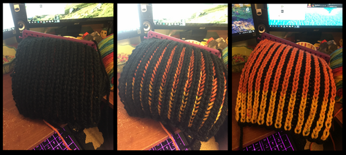 Two Tone Brioche Knit WIP by SunsetRevelation