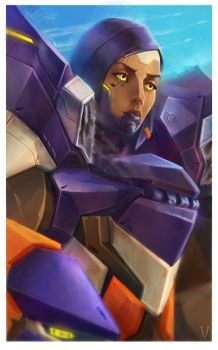 Pharah Ovewatch fan Art by vertry