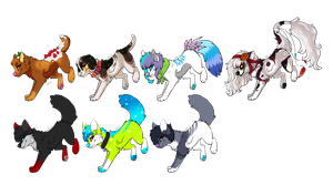 YCH Canines by Okoe