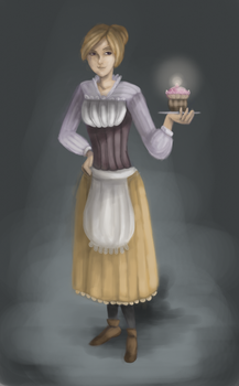 *Chica* Humanized (Middle Ages) by JulieDraw2046