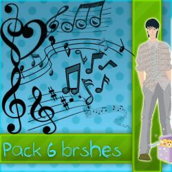 Brushes Notas Musicales by Tutoriales-Paris