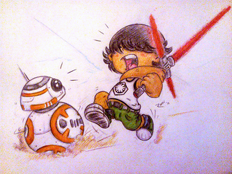 LilRamiChasing BB8 by RAMI545