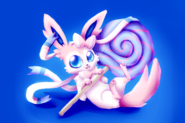 sylveon painty thing by FROSKII