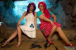 My Little Pony Rarity and Pinkie Pie Cosplay by NerdySiren