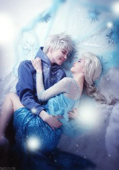Jack and Elsa - Lovely cold between us by MilliganVick