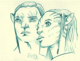 Jake and Neytiri by Cindy-R