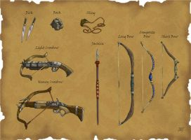 DS: Ranged Weapons by willowWISP