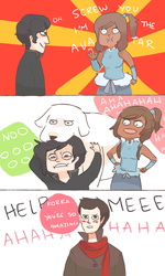 LOK: SCREW YOU I'M THE AVATAR by Randomsplashes