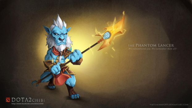 Phantom Lancer - DotA 2 chibi by VirtualMan209