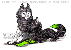Ria And Orion Wolf Commission by WildSpiritWolf