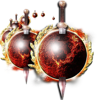 Steampunk Nibiru Planet X with Sword Icon by yereverluvinuncleber