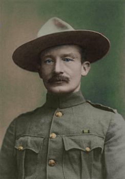 Lord Baden-Powell in 1896 - Colorized by OldHank