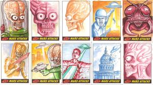 Mars Attacks Sketch Cards by ShaunStroup