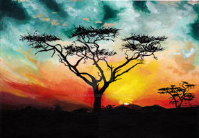 African Sunset by 88Laura88