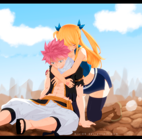 Natsu and Lucy Ch 507 by kisi86
