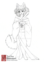 Mono (Character Sketch) by TeaKitsune