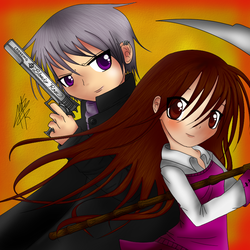 Zero and Yuuki - Colored by 221bee