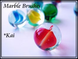 Marble Brushes by KaiPrincess
