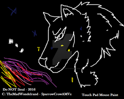 Wolf `n Star - Digital - MS Paint Scribble by WonderlandTrades