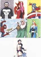 Marvel sketch card samples 1 by tdastick