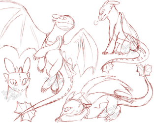 Toothless Doodles by Kawaii4eva