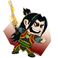 LIl' Zhin the Tyrant from Paladins by SpiderFam